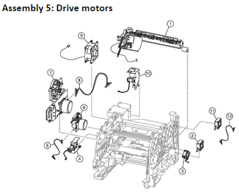 Lexmark MS810 Assembly 5: Drive Motors